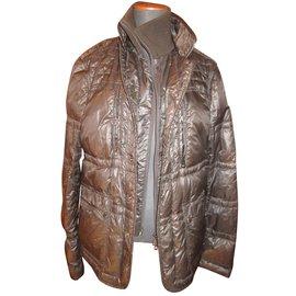 Moncler-Down jacket-Brown