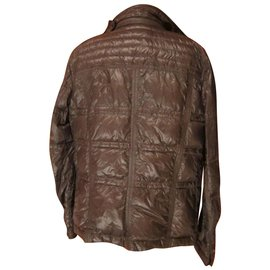 Moncler-Down jacket-Brown