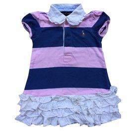 Ralph Lauren-Les ensembles fille-Rose,Blanc,Bleu Marine