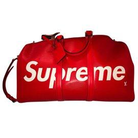Louis Vuitton-Louis Vuitton x Supreme-Red