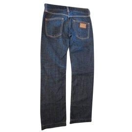 Dolce & Gabbana-Pantalons-Bleu foncé