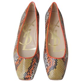 Yves Saint Laurent-Ballerines-Multicolore