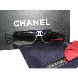 Chanel-Lunettes de soleil chanel-Argenté