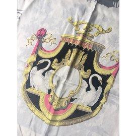 Hermès-Le Bois de Boulogne-Noir,Rose,Doré,Gris,Crème,Blanc cassé,Gris anthracite,Fuschia