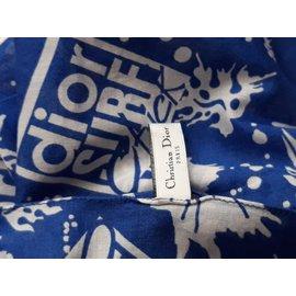 Dior-Foulard Bandana-Bleu