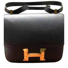 Hermès-constance 24 epsom noir-Noir