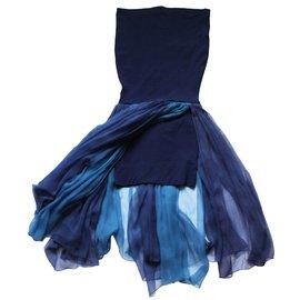 Dolce & Gabbana-Robe vintage-Bleu