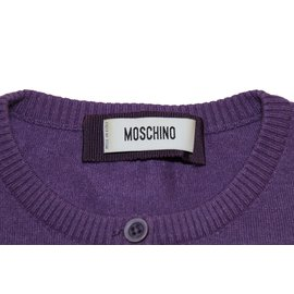 Moschino-Cardigan coupe courte-Lavande