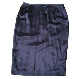 Les Petites-Silk skirt-Chocolate
