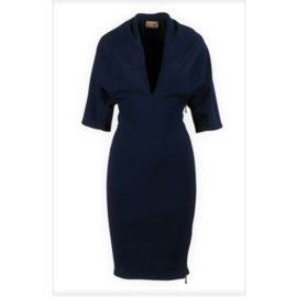 Lanvin-Batwing marine robe-Bleu Marine