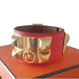 fa95d69ab396 Hermès-Bracelet Collier de chien-Rouge ...