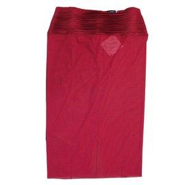 La Perla-nuisette  en soie  et tulle rouge-Rouge