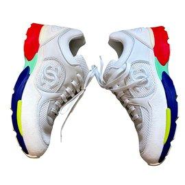 Chanel-Baskets-Blanc,Multicolore