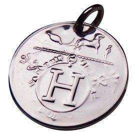 Hermès-Ex Libris Pendant-Silvery