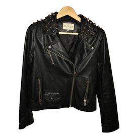 Claudie Pierlot-Vestes de motard-Noir