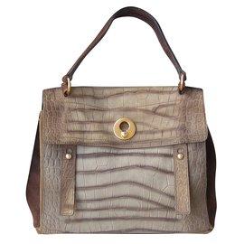 Yves Saint Laurent-Handbag-Chestnut