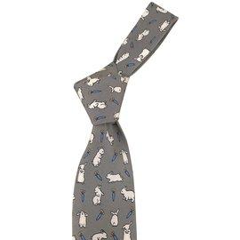 Hermès-Cravates-Gris