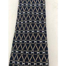 Hermès-Cravates-Bleu Marine