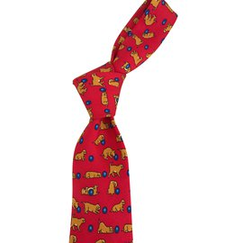 Hermès-Cravates-Rouge