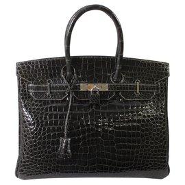 Hermès-Birkin 35-Dark grey