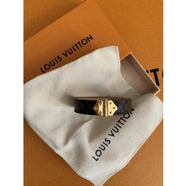 Louis Vuitton-Bracelet monogram spirit nano monogram-Marron