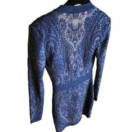 Balmain-Robe-Bleu foncé