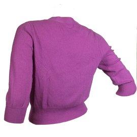 9007e736f4ca6 ... Allude-Cardigan 100% cachemire-Violet