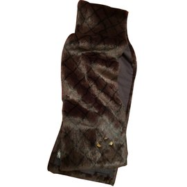Chanel-Scarves-Dark brown