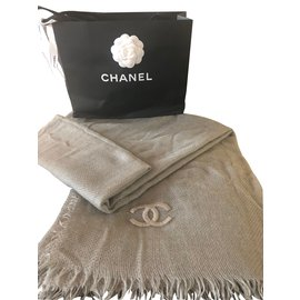 Chanel-Scarves-Grey