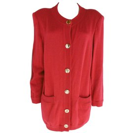Yves Saint Laurent-Manteau-Rouge