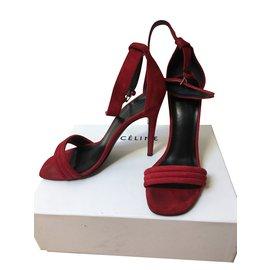 Céline-sandals-Red