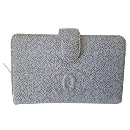 Chanel-Portefeuille-Bleu clair