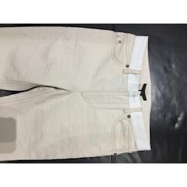Louis Vuitton-jeans-Blanc cassé