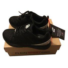 Philipp Plein-baskets basses noires-Noir