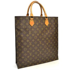 Louis Vuitton-Sac plat pm-Marron,Beige