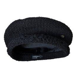 Chanel-Beret Hat-Black