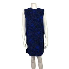 Yves Saint Laurent-Robe-Noir,Bleu