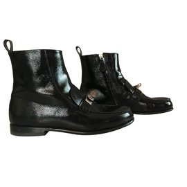 Hermès-Bottines-Noir