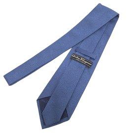 Salvatore Ferragamo-Cravates-Bleu