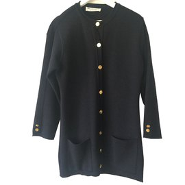 Burberry-Vintage cardigan-Navy blue