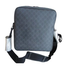 Gucci-Sacs Porte-documents-Gris anthracite