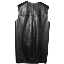 Yves Saint Laurent-robe sans manches-Noir