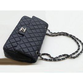 Chanel-Medium Double Flap Timeless Bag-Blue,Navy blue