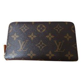 Louis Vuitton-Portefeuille Zippy Compact-Marron foncé