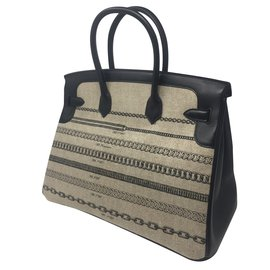 Hermès-Birkin 35-Schwarz