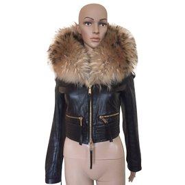 Dsquared2-Manteaux, Vêtements d'extérieur-Marron,Noir