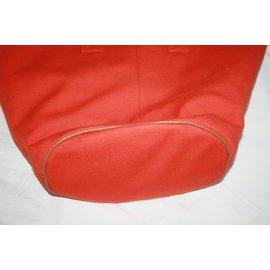 Hermès-Cotton canvas tote-Orange