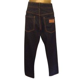 Dolce & Gabbana-Pantalons-Bleu Marine