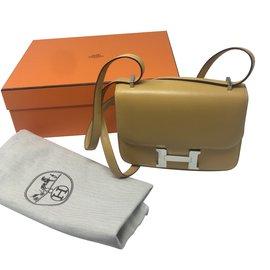 Hermès-Constance 18 Silver hardware-Caramel