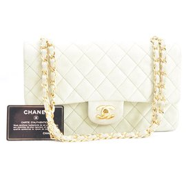 Chanel-Chanel Timeless 25 suede lamb pistachio-Green